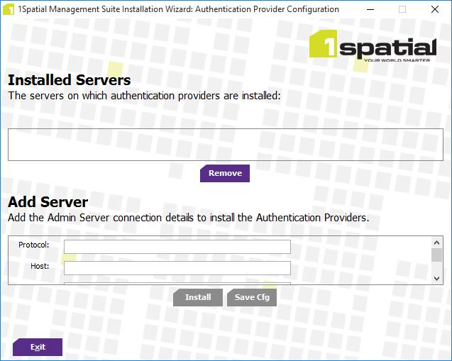 Authentication Provider Setup