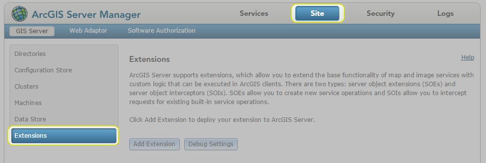 Configuring ArcGIS Server